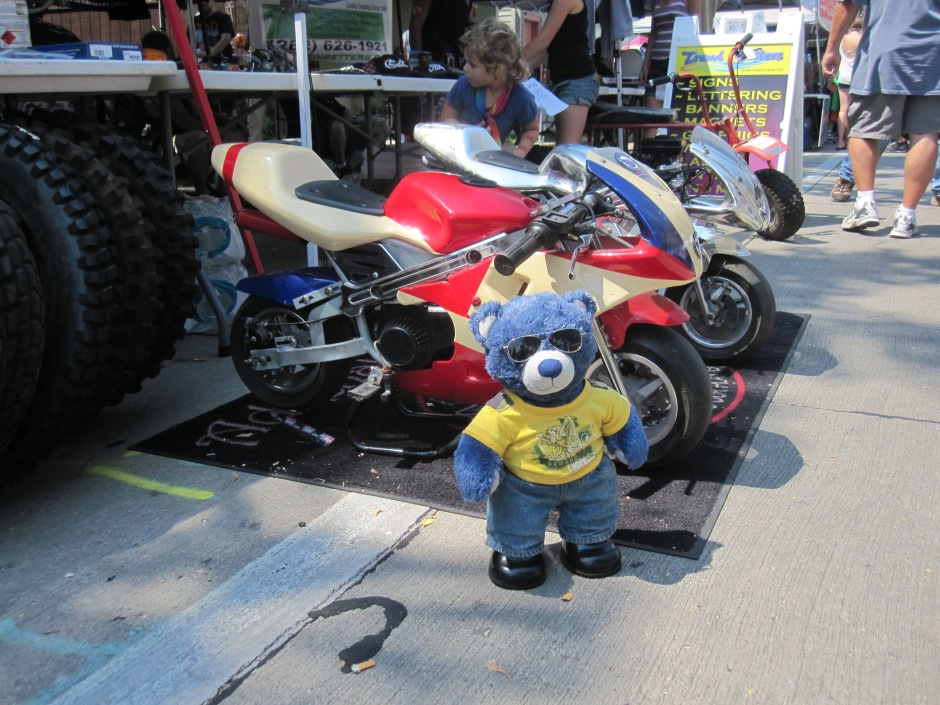 No, Blue, I am not getting you a motorcycle, you're just going to be a hulligan.